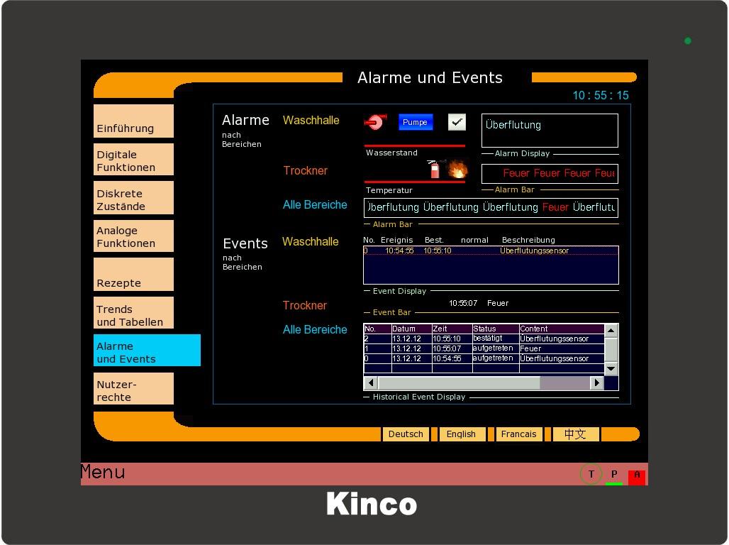 Kinco HMI Alarme