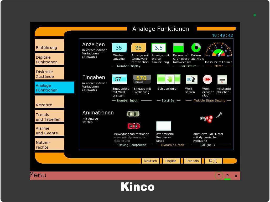 Kinco HMI Analogwerte