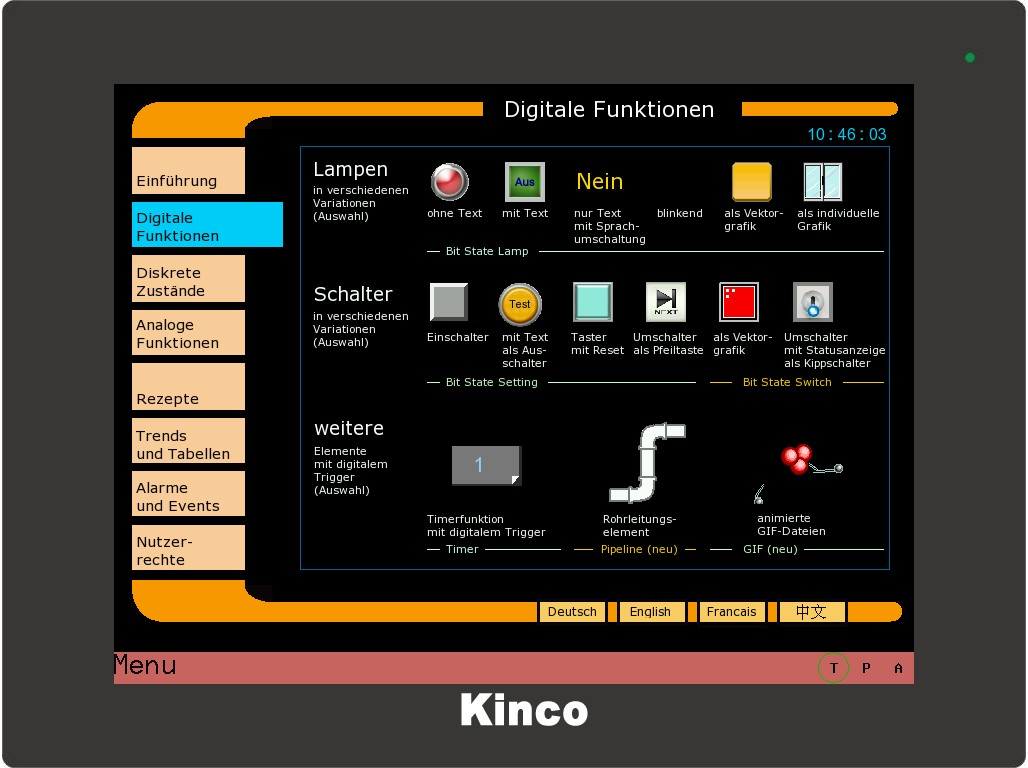 Kinco HMI Digitale Funktionen 0