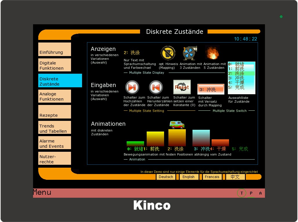 Kinco HMI diskrete Zustände CN