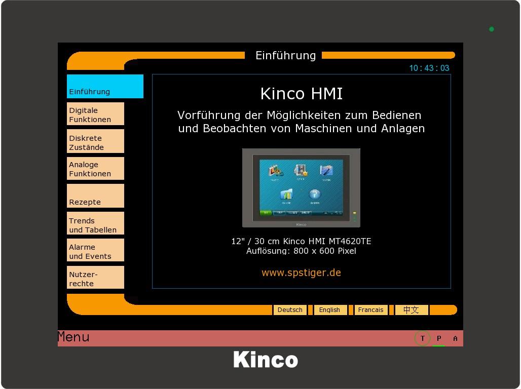Kinco HMI umfangreiches Beispielprojekt