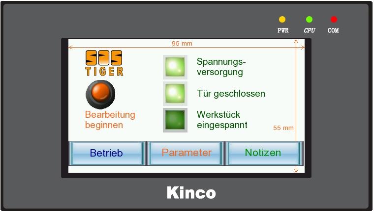 Kinco HMI Schalter
