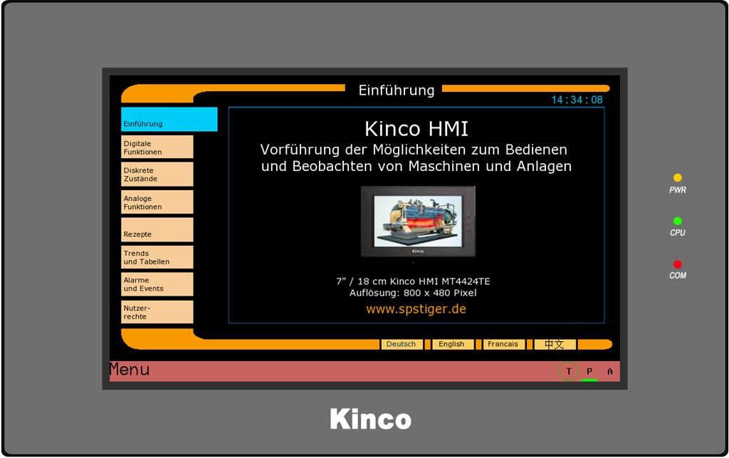 Kinco HMI MT4434TE Einführung