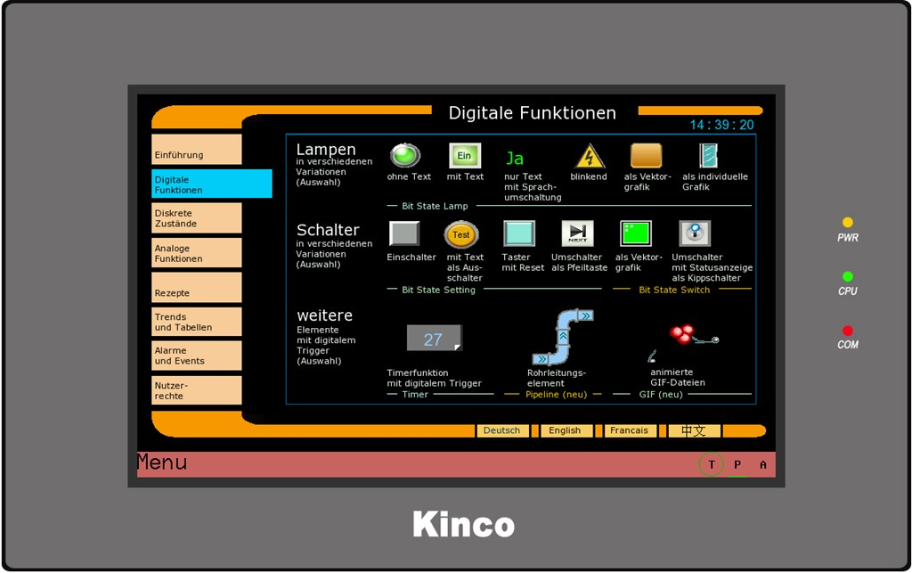Kinco HMI MT4434TE Digitale Funktionen 1