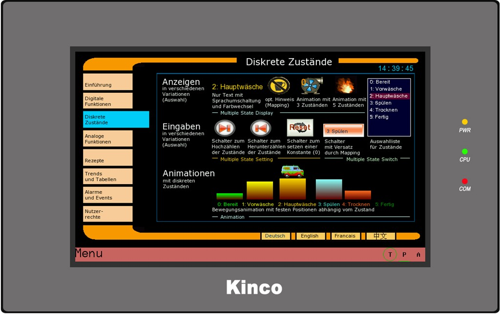 Kinco HMI MT4434TE diskrete Zustände 2