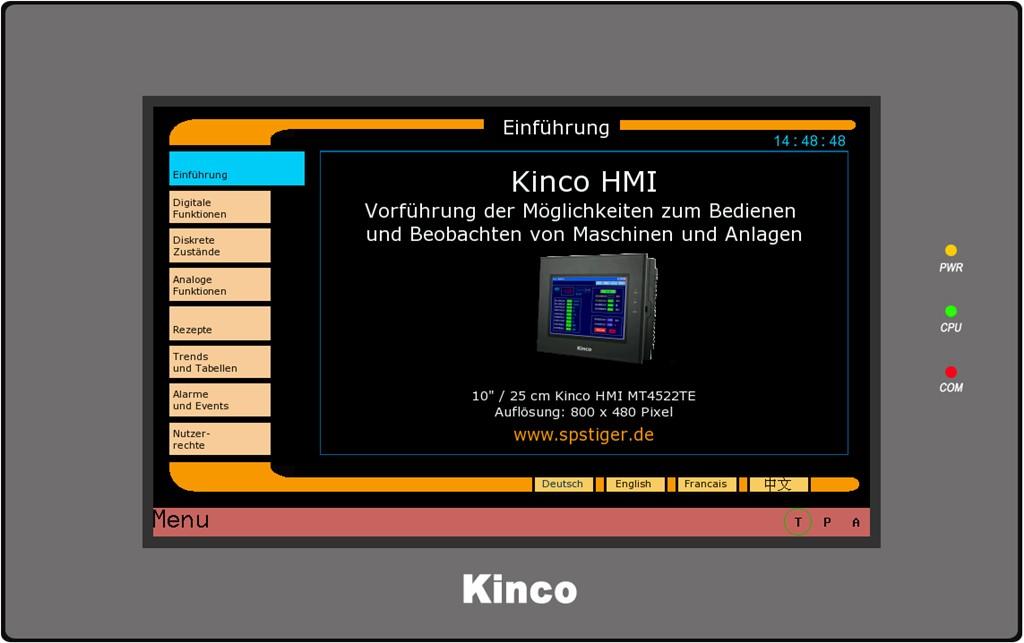 Kinco HMI MT4534TE Einführung