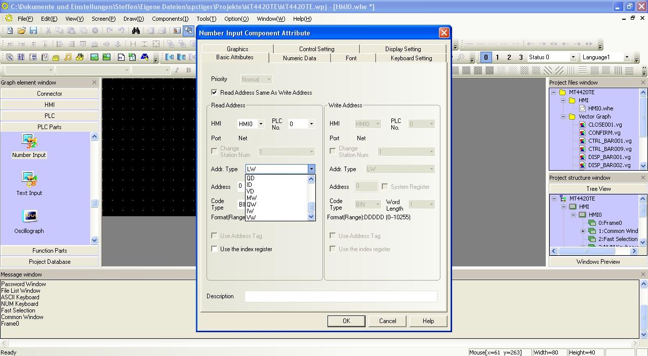 Siemens-Variablen in Kinco HMIware