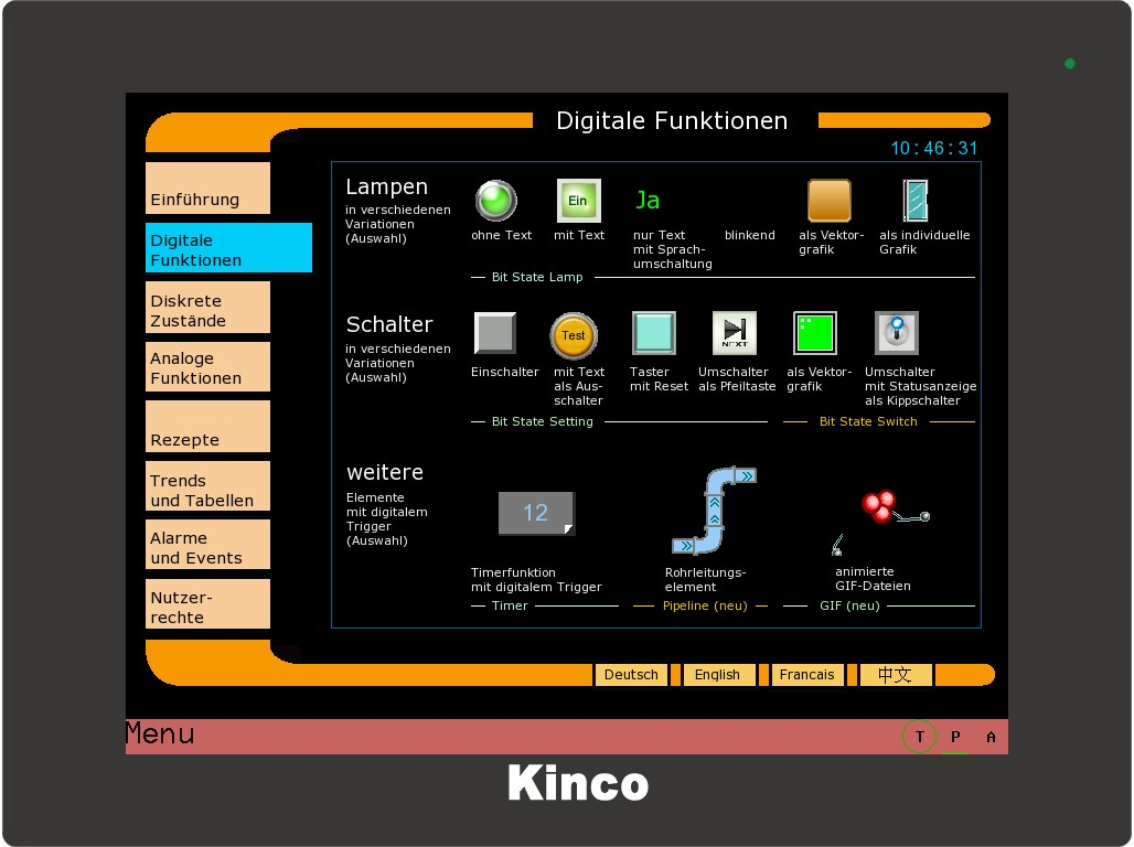 Kinco HMI Digitale Funktionen 1