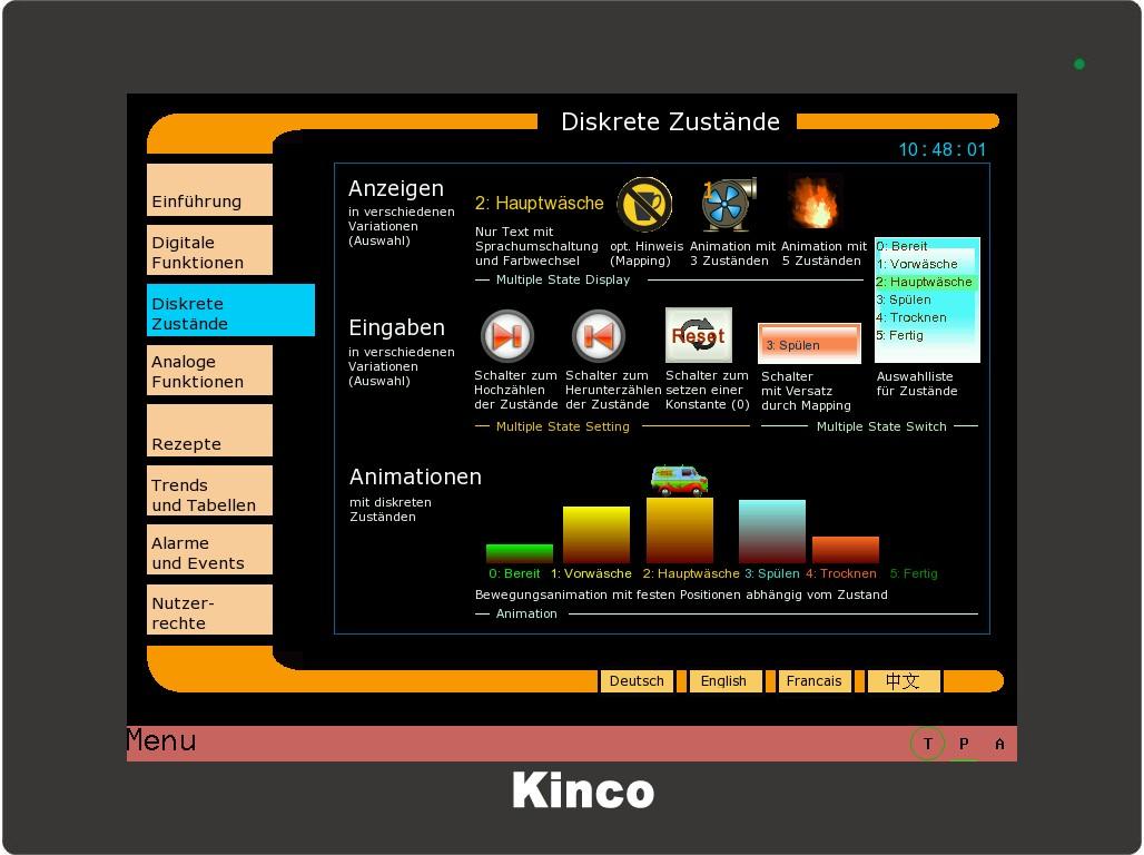 Kinco HMI diskrete Zustände 2
