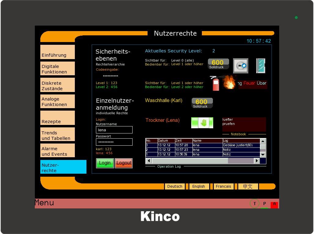 Kinco HMI Rechte